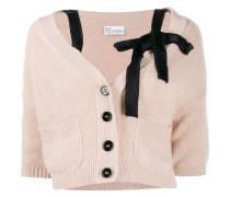 bow-embellished cropped cardigan
