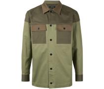 panel detail shirt jacket