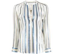 'Tukker' Bluse mit Metallic-Streifen