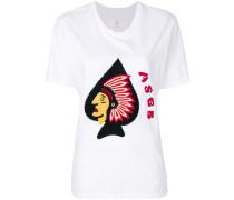 T-Shirt mit Indianer-Stickerei