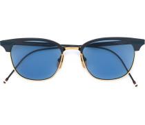 18kt vergoldete Sonnenbrille mit Halbrahmen