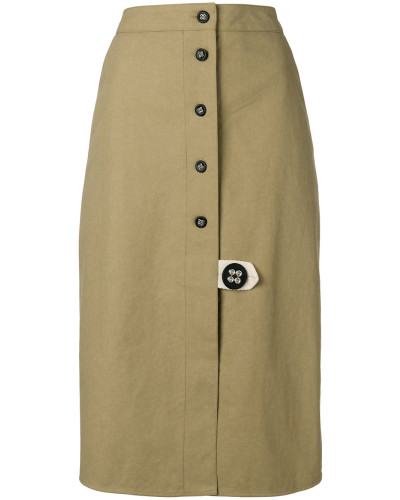 front-buttoned skirt