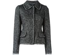 Tweed-Jacke mit Hahnentrittmuster