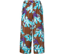 P.A.R.O.S.H. Cropped-Hose mit Blumenmuster