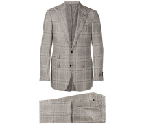 two-piece checked suit