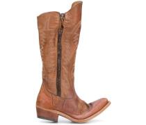 Golden zip boots