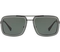 Pilotenbrille mit eckigen Gläsern