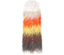 fringe sleeveless jacket
