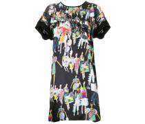 fashion model print dress