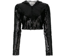 cropped sequinned jacket