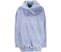 Oversized-Kapuzenpullover aus Faux Fur