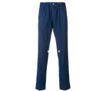 drawstring straight leg trousers