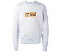 """Sweatshirt mit """"Bisou!""""-Stickerei"""