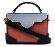 Multicoloured micro bold leather cross-body bag