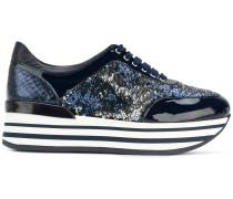 Flatform-Sneakers mit Pailletten