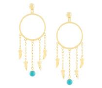 fang pearl charm drop earrings