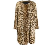 'Wendy' Mantel mit Leoparden-Print