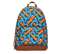 Monogram-print backpack