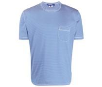 Gestreiftes T-Shirt mit Schlitzen