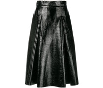 vernished flared skirt