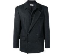 asymmetric lapel boxy blazer