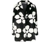 Blumen-Mantel aus Faux Fur