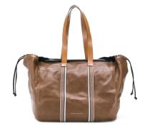 Große Handtasche mit Besatzstreifen