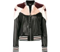 fur trimmed bomber jacket