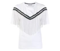 T-Shirt mit Strassfransen