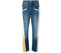 Jeans in Colour-Block-Optik