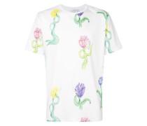 T-Shirt mit Tulpen-Print