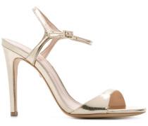 mirrored slingback sandals