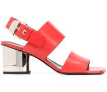 Sandalen mit verspiegeltem Absatz
