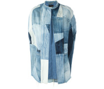 Jeans-Cape in Patchwork-Optik