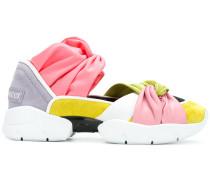 Colour-Block-Sneakers mit Knoten