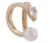 14kt Ear Cuff aus Gelbgold mit Diamanten-Pavé