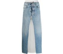 Jeansrock mit Kontrast-Patch