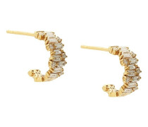 18kt yellow gold small diamond Fireworks hoops