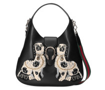 Dionysus embroidered large leather hobo