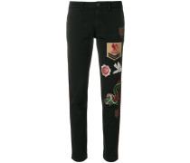 P.A.R.O.S.H. Skinny-Hose mit Patches
