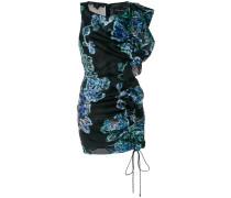 sequin ruched mini dress
