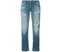 Cropped-Jeans im Used-Look