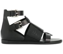 logo embossed sandals