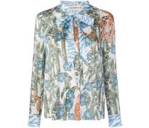 tiger motif printed shirt