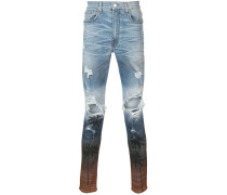 Skinny-Jeans mit Distressed-Optik