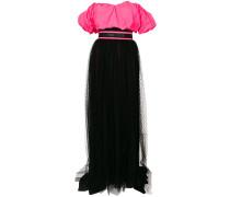 off-the-shoulder layered dress