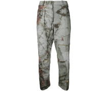 Cropped-Hose mit Print