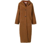single breasted shearling coat