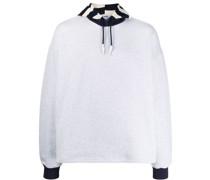 Pullover mit gestreifter Kapuze