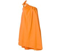 ruched one-shoulder dress